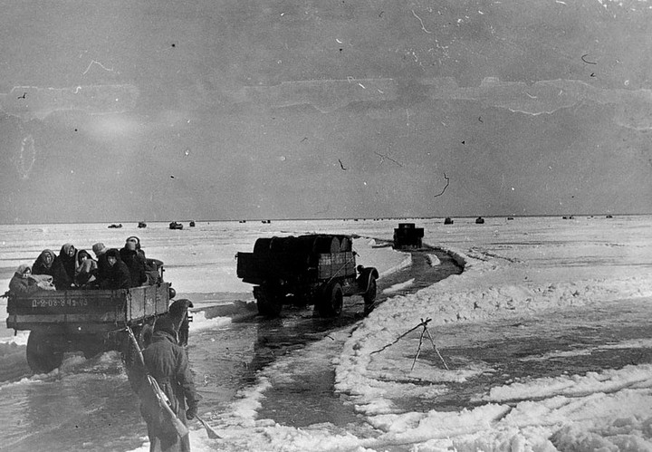 Ледовая дорога жизни, блокадный Ленинград (5)