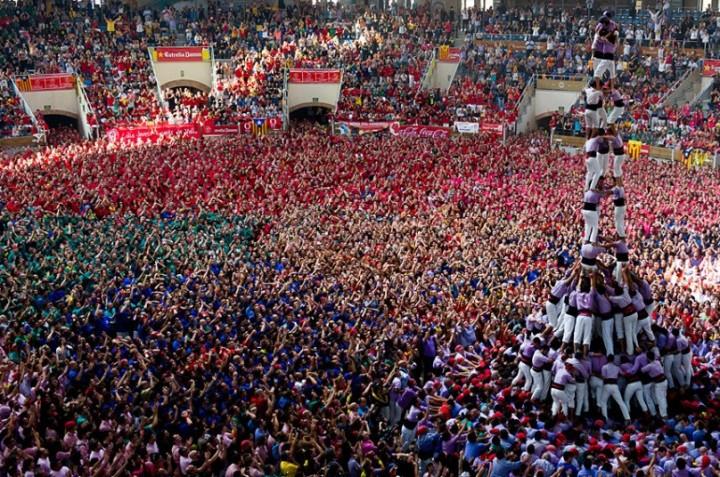 Замки из людей. Соревнование в Таррагоне 2014 (1)