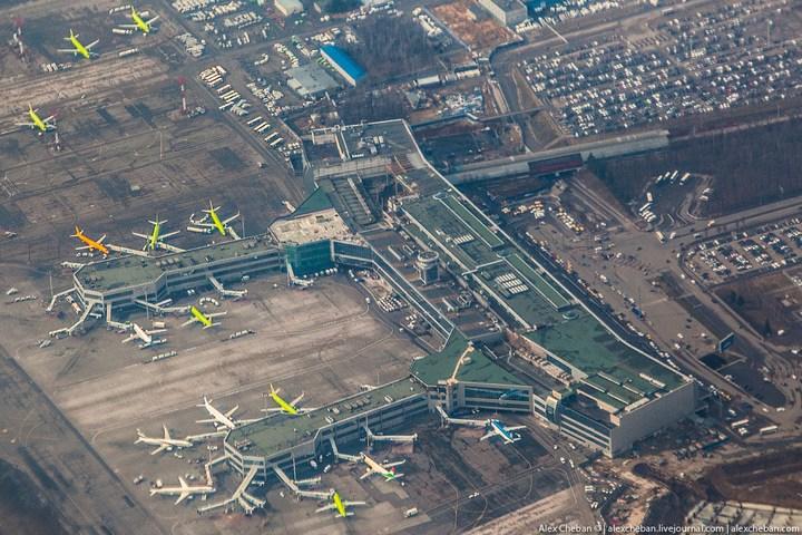 """Московский аэропорт """"Домодедово"""", вид сверху (4)"""