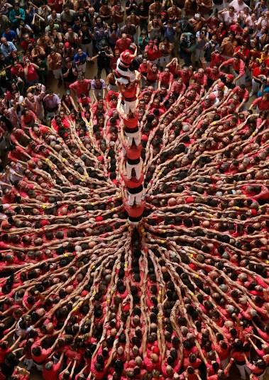 Замки из людей. Соревнование в Таррагоне 2014 (12)