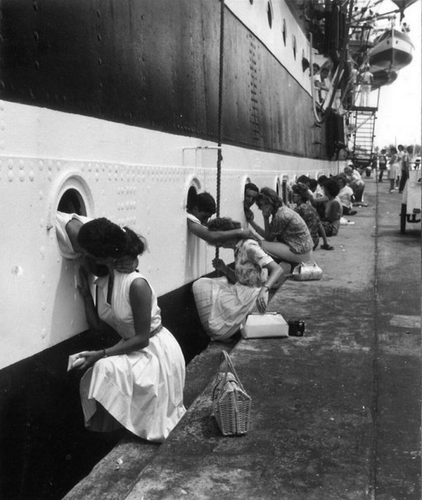 Военный флот США, прощание с любимыми, 1963 г.