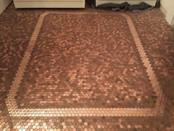 Делаем пол из монет (5)