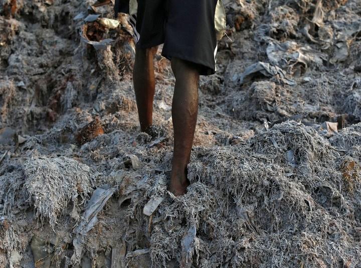 Работа на мусорных свалках в Индии (13)