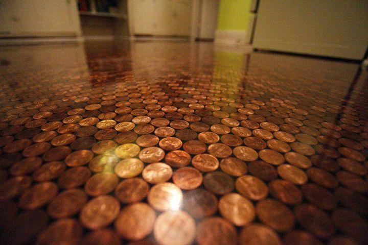 Делаем пол из монет (14)