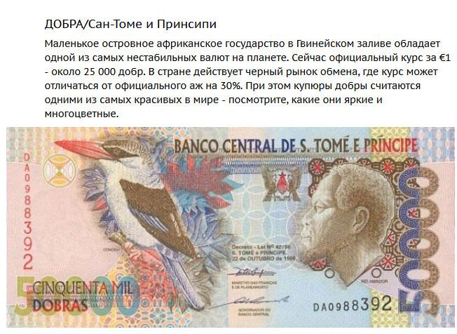 """Самые """"слабые"""" валюты мира (1)"""