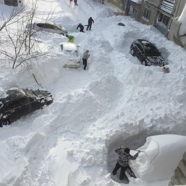 Хабаровский край засыпало снегом (8)