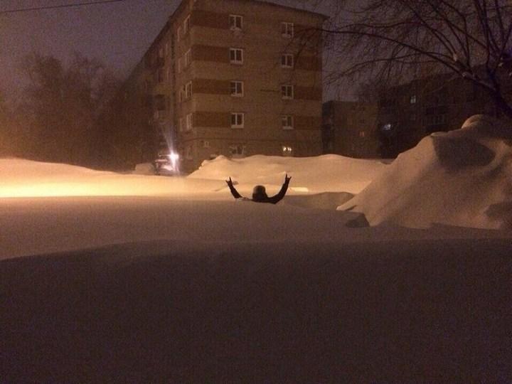 Хабаровский край засыпало снегом (3)