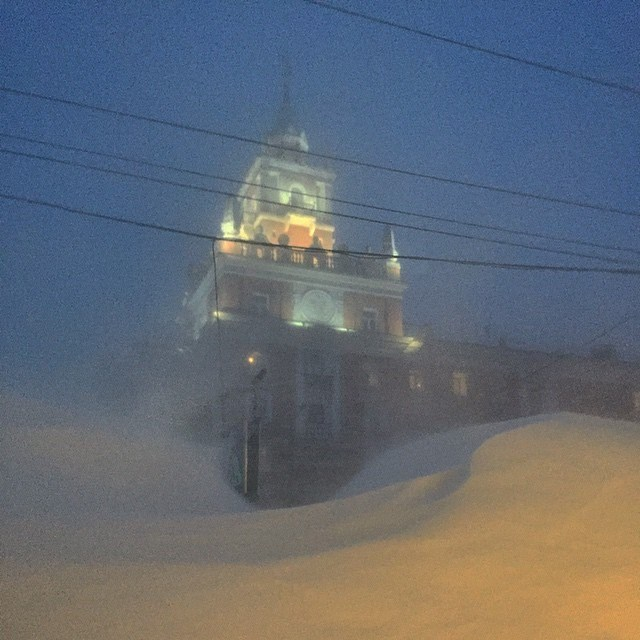 Хабаровский край засыпало снегом (2)