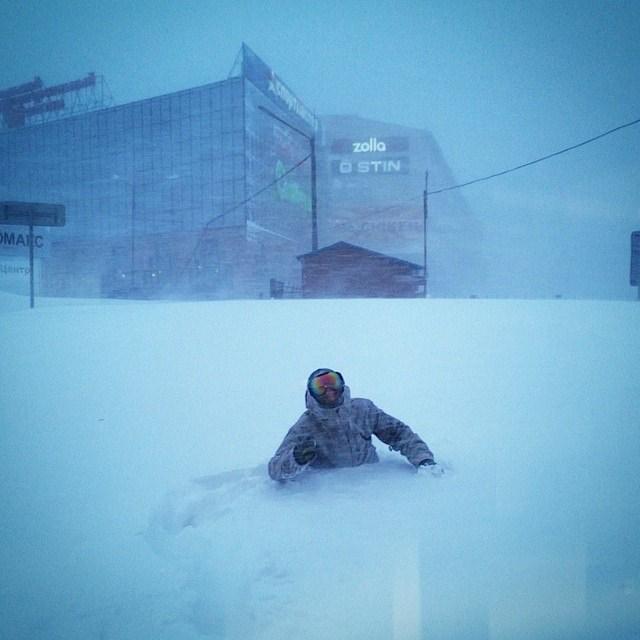 Хабаровский край засыпало снегом (1)