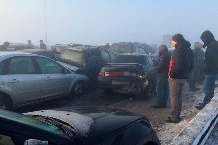 На трассе М-5 столкнулись 78 автомобилей (2)