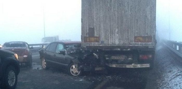 На трассе М-5 столкнулись 78 автомобилей (3)