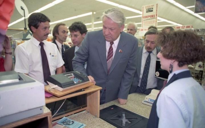 Как Ельцин впервые в жизни в американском супермаркете побывал (5)