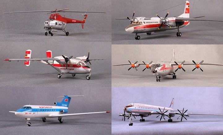 ГэДээРовские сборные модели самолётов (1)