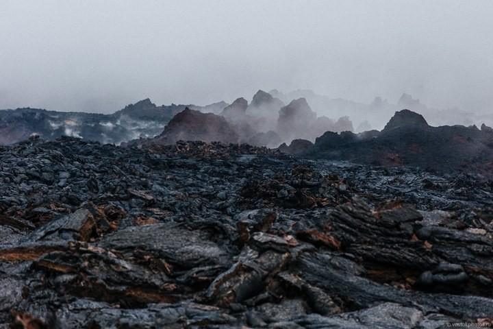 Лавовый поток вулкана Толбачик, гора Камень и Ключевская сопка (14)