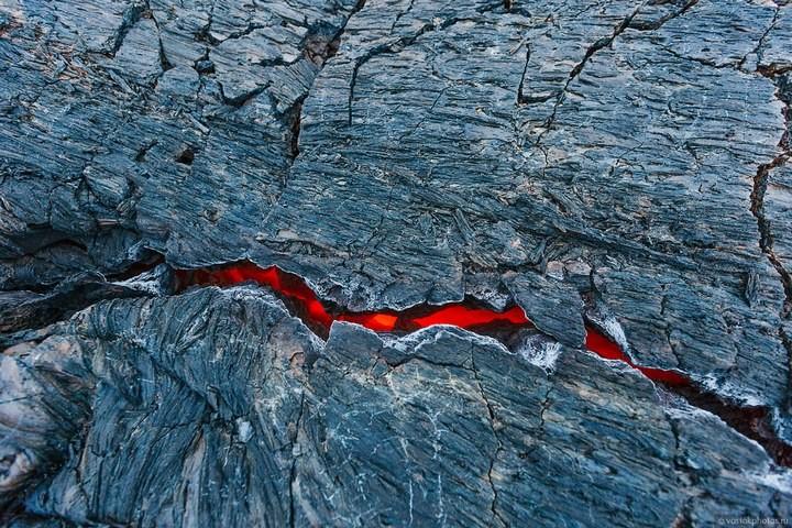 Лавовый поток вулкана Толбачик, гора Камень и Ключевская сопка (15)