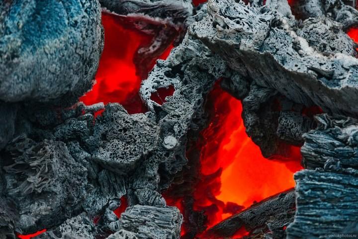 Лавовый поток вулкана Толбачик, гора Камень и Ключевская сопка (17)