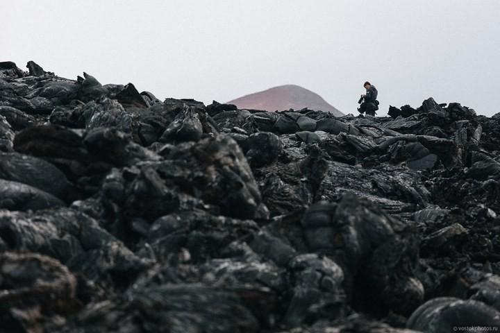 Лавовый поток вулкана Толбачик, гора Камень и Ключевская сопка (18)