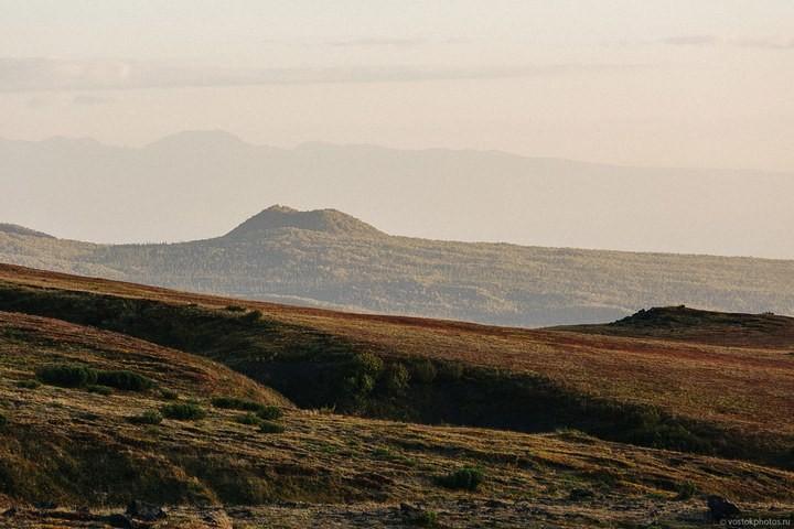 Лавовый поток вулкана Толбачик, гора Камень и Ключевская сопка (32)