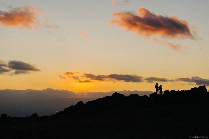 Лавовый поток вулкана Толбачик, гора Камень и Ключевская сопка (36)