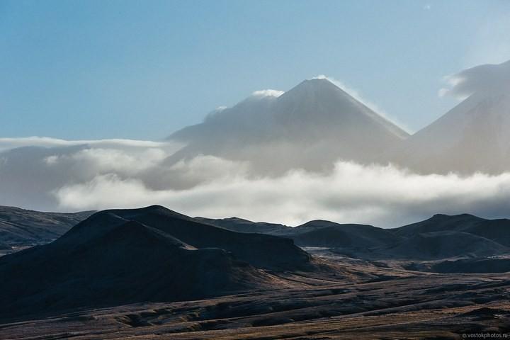 Лавовый поток вулкана Толбачик, гора Камень и Ключевская сопка (42)