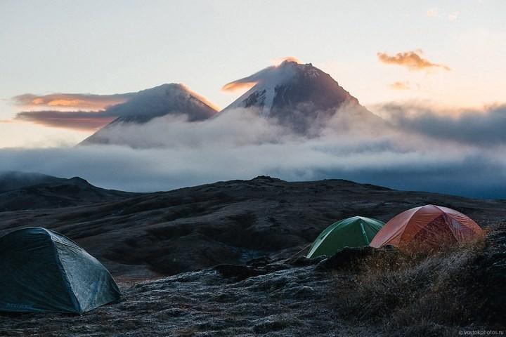 Лавовый поток вулкана Толбачик, гора Камень и Ключевская сопка (53)