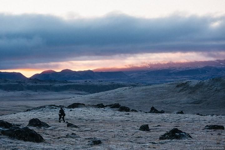 Лавовый поток вулкана Толбачик, гора Камень и Ключевская сопка (54)