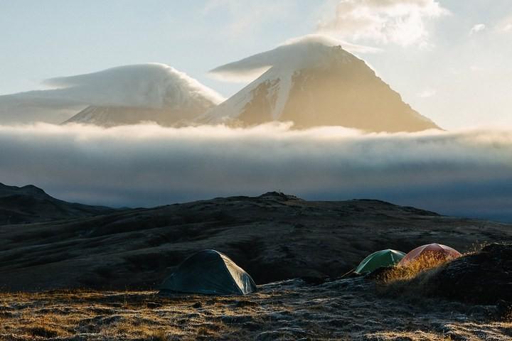 Лавовый поток вулкана Толбачик, гора Камень и Ключевская сопка (55)