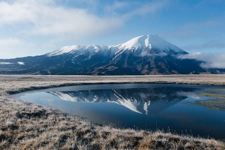 Лавовый поток вулкана Толбачик, гора Камень и Ключевская сопка (58)