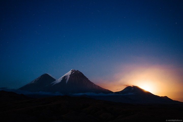 Лавовый поток вулкана Толбачик, гора Камень и Ключевская сопка (72)