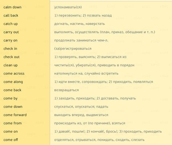 170 английских глаголов, которые пригодятся в любом разговоре (3)
