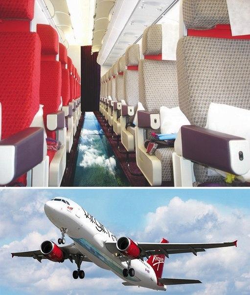 Самолет с прозрачным дном