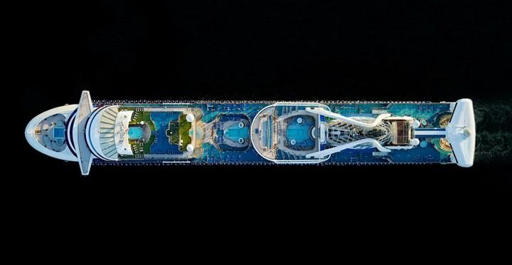 Круизные лайнеры, вид сверху (3)