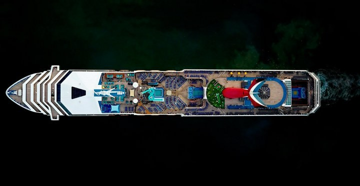 Круизные лайнеры, вид сверху (7)