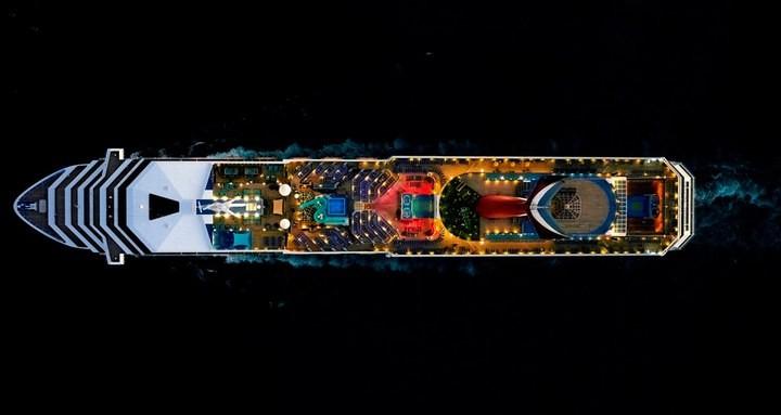 Круизные лайнеры, вид сверху (8)