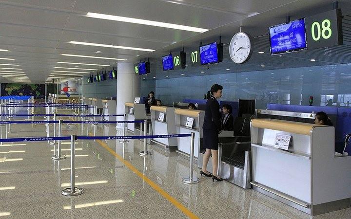 Ким Чен Ын на открытии нового терминала в аэропорту в Пхеньяне (4)