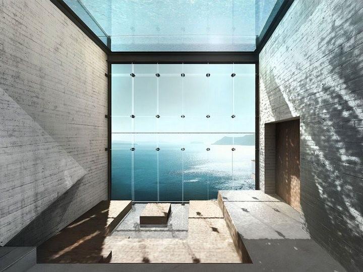 Уникальный дом в скале с восхительным видом на море (7)