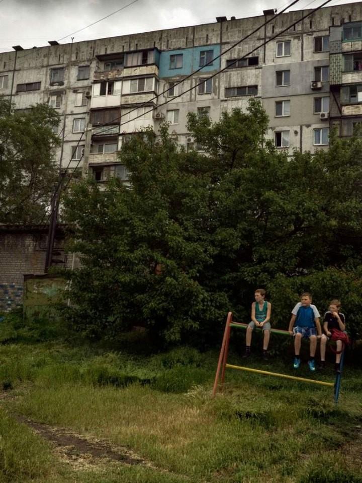 Прифронтовой украинский город Мариуполь (19)