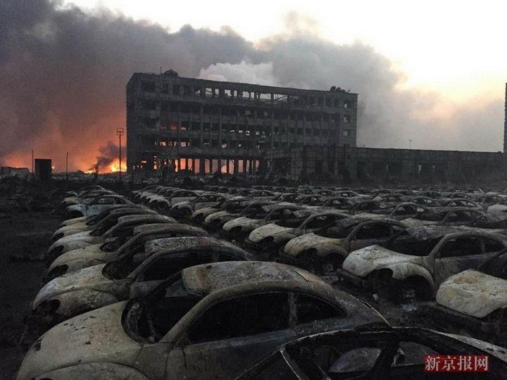 Последствия взрывов в китайском городе Тяньцзине (1)