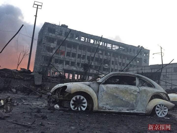 Последствия взрывов в китайском городе Тяньцзине (2)