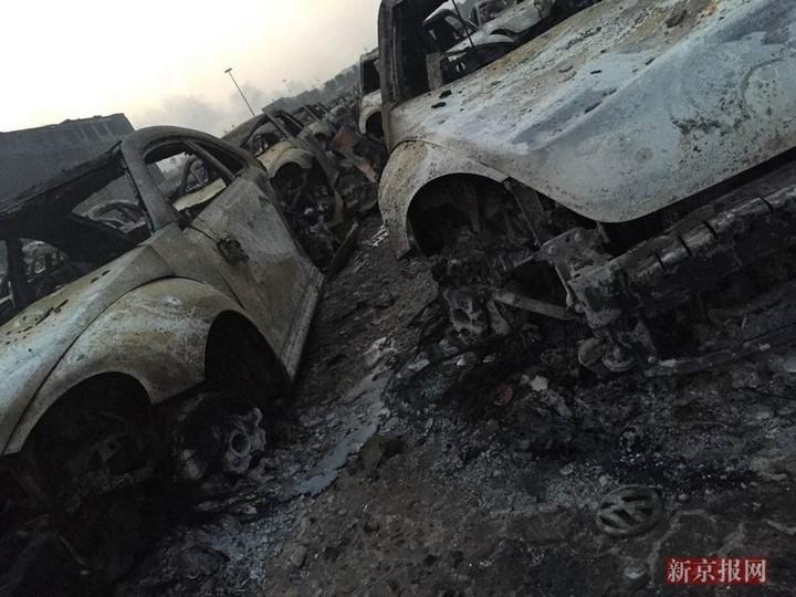 Последствия взрывов в китайском городе Тяньцзине (3)