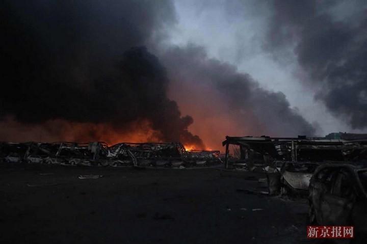 Последствия взрывов в китайском городе Тяньцзине (7)