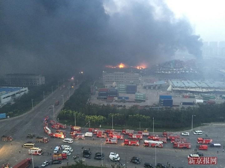 Последствия взрывов в китайском городе Тяньцзине (8)