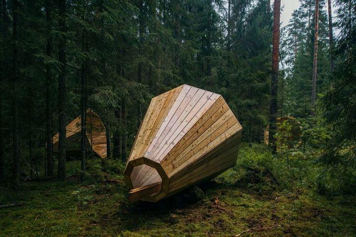 Деревянные приспособления для прослушивания звуков леса (1)