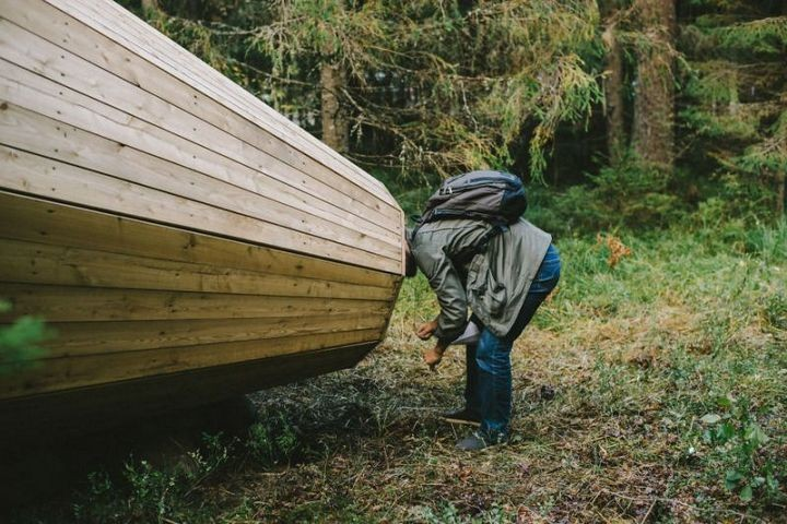 Деревянные приспособления для прослушивания звуков леса (4)