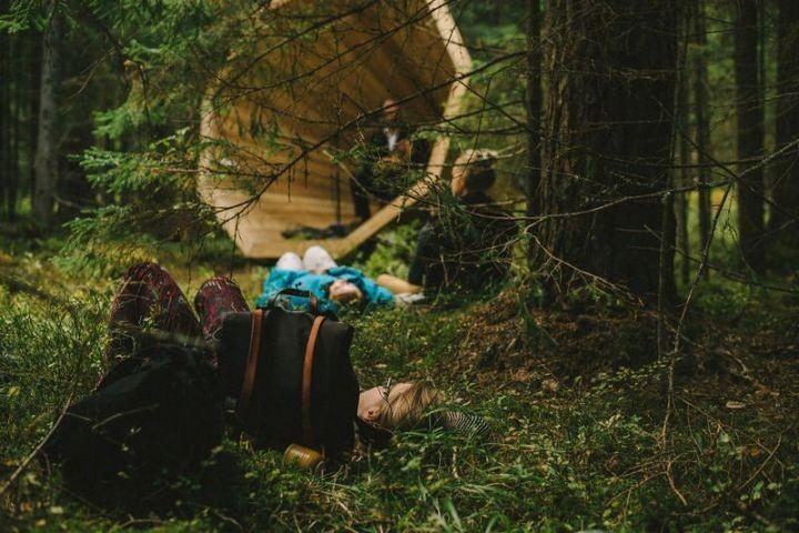 Деревянные приспособления для прослушивания звуков леса (8)