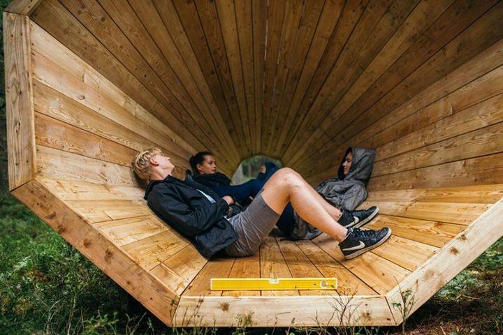 Деревянные приспособления для прослушивания звуков леса (9)
