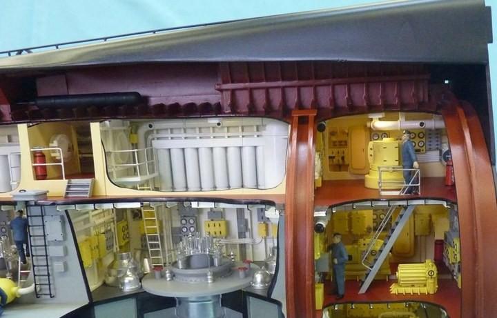 """Модель атомной подводной лодки 667-А """"Навага"""" в масштабе 1:50 (27)"""