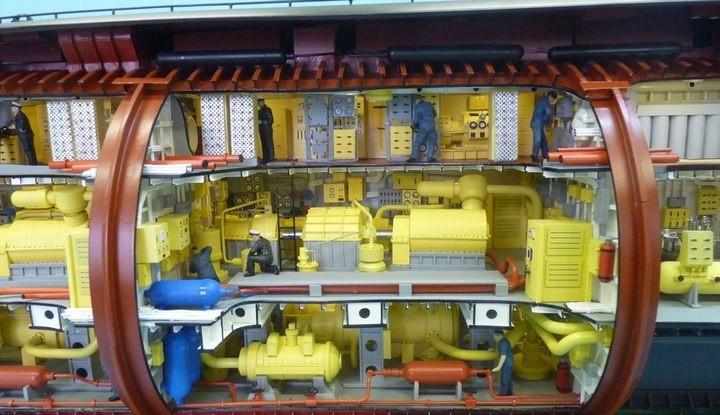 """Модель атомной подводной лодки 667-А """"Навага"""" в масштабе 1:50 (28)"""