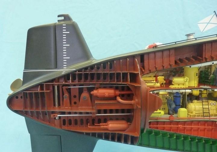 """Модель атомной подводной лодки 667-А """"Навага"""" в масштабе 1:50 (29)"""