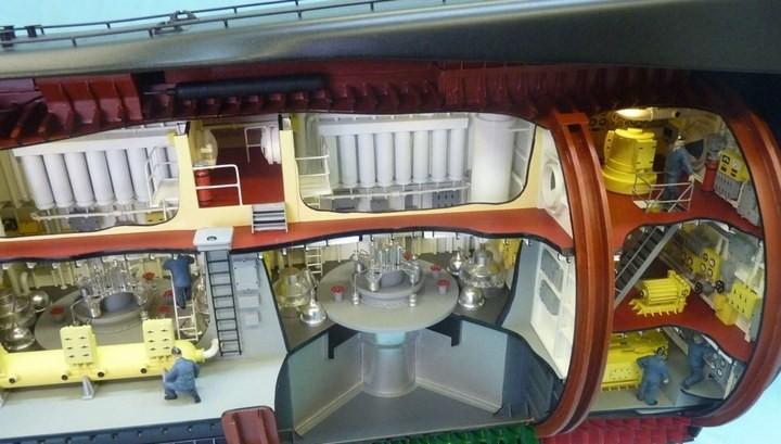 """Модель атомной подводной лодки 667-А """"Навага"""" в масштабе 1:50 (30)"""